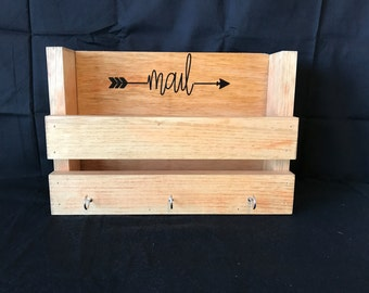 Custom Rustic Mail Organizer and Key Rack