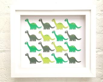 Green dinosaur decor, Diplodocus nursery art, Dinosaur playroom decor, Green dinosaur nursery decor, Dinosaurs, Diplodocus dinosaur