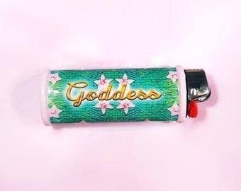 Goddess Nature Bic Lighter Case Cover Holder