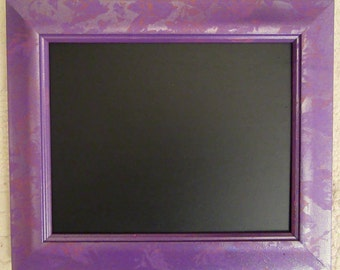 Small Purple Framed Chalkboard / Blackboard / Memo / Noticeboard
