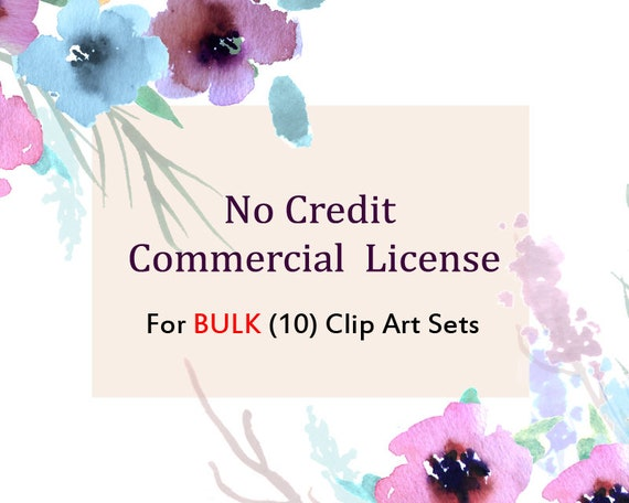 No Credit Commercial License For Bulk (10) Clip Art Set for small business