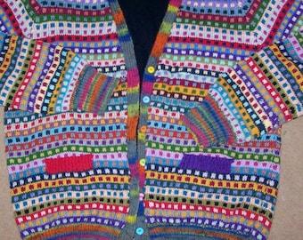 hand knitted fair isle cardigan