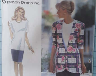 Simplicity 8217 Misses Dress and Unlined Jacket Size 8-14