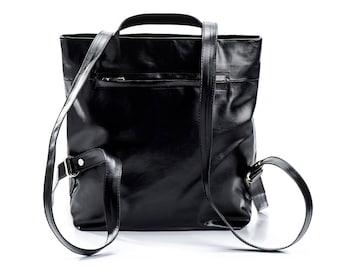 small black backpack purse backpack womens backpack handbags - mini backpack - small backpack - fashion backpack - slim backpack - DAILYBPF