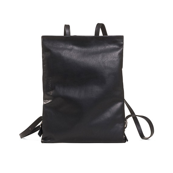black leather backpack purse leather backpack women womens