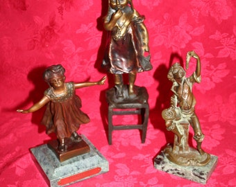 Bronze Statue Collection (3 pieces)
