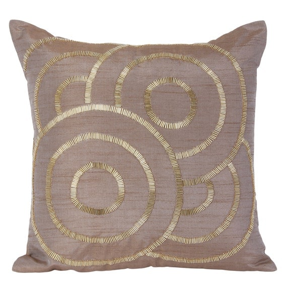 Light Brown Decorative Pillows : Light Brown Decorative Pillow Cover Brown Geometrical Pillow