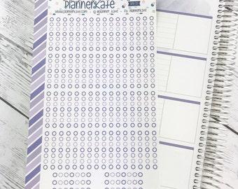 APR-55 || HORIZONTAL Checklist Stickers for Planner - April EC Color Scheme (70 Removable Matte Stickers)