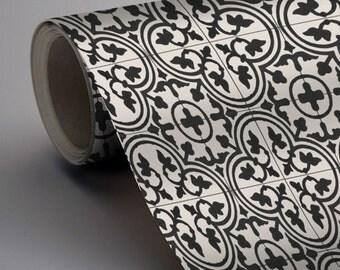 noir blanc carreaux pour cuisinesalle de bain arrire splash stickers de sol trefle tuile vinyle autocollant pack couleur noir - Stickers Tuile Vinyle Salle De Bain