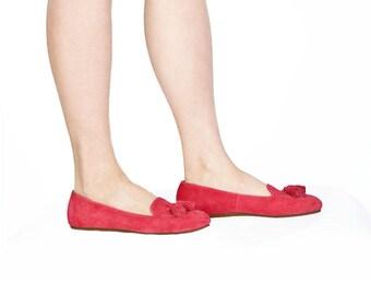 Red loafer/ Smoking slipper
