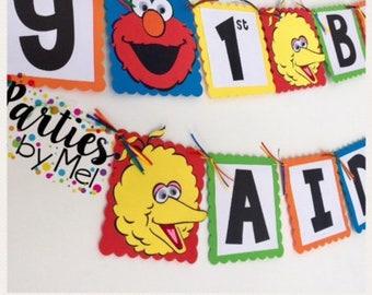 Sesame Street Birthday Decorations- Seasame Street Banner- Sesame Street Characters-Sesame street Birthday-Sesame Street party decorations