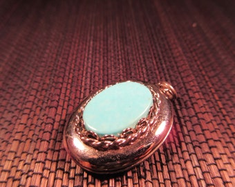 Native American Sterling Silver Turquoise Locket