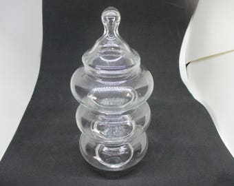 Vintage Stackable Candy dish Clear glass Candy dish trinket snacks mid century