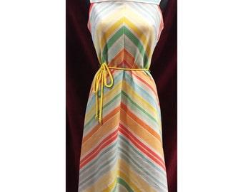 Super Sweet Vintage 70's Striped Dress