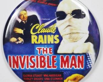 """The Invisible Man Movie Poster FRIDGE MAGNET HG Wells Monster Film Horror 2 1/4"""""""