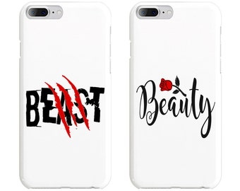 Beast & Beauty 2 Couple Phone Case Mate - iPhone, Samsung Galaxy Phone Cases for Couples - Matching Phone Case
