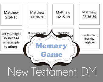 Doctrinal Mastery New Testament Memory Game Cards - 25 Scriptures - 50 Cards Total - LDS Seminary