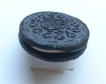 Oreo Biscuit Polymer Clay Fridge Magnet and/or Keyring