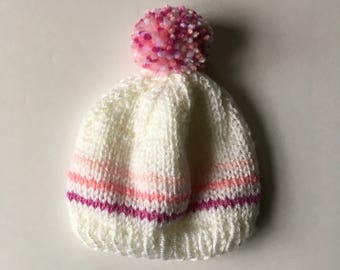 The Aurora - Knit Baby Hat, Handmade Baby Hat, Newborn Tiny Hat, Tiny Hat