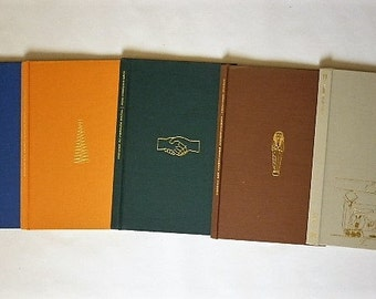 Set of 5  ephemera book cover for book bindings project diary or recovery back cover