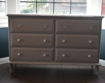 AVAILABLE: Lavender Low Dresser / Changing Table / Sideboard / Nursery / Lavender Dresser / Kids Dresser / Chalk Paint / Barrington IL