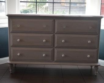 AVAILABLE: Lavender Low Dresser / Changing Table / Sideboard / Nursery / Lavender Dresser / Kids Dresser / Chalk Paint / Barrington IL