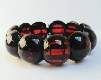 Vintage cherry amber bakelite bracelet
