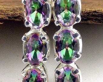 JEWEL QUARTZ MYSTIC, Mystic quartz, mystic quartz jewels earrings, gh6
