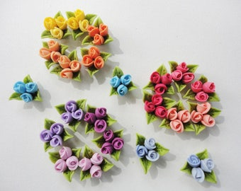 ROSE BUD CABOCHON,cold porcelain rose bud, handmade rose bud, rose cabochon, flower cabochon, porcelain tiny rose, porcelain flower cabochon