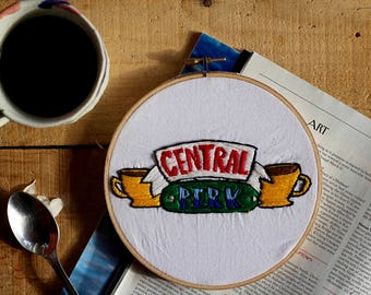 "8"" Central Perk from ""Friends"" Embroidery"