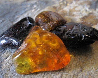 Large Baltic Amber Drilled Nugget Beads