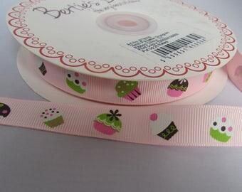 Pink Cupcake Ribbon