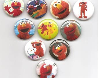 Elmo Classic Set of 10 Pins Button Badge Pinback