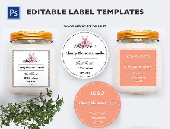 candle label soy wax label label template Skin Care label – Product Label Template