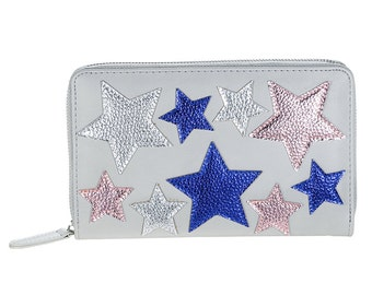 Travel organiser/wallet grey star party