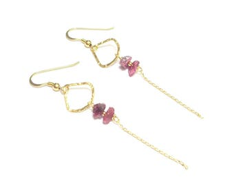 Vermeil and Tourmaline earrings