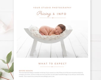 Photography Email Template, Email Newsletter Template, Photography Welcome Guide, Newsletter Template for Email - INSTANT DOWNLOAD!