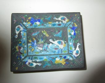 CHINA TRINKET CLOISSONE Dish