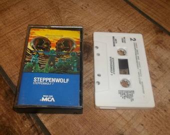 STEPPENWOLF 7 Cassette Tape, Skull Cover, Ball Crusher,  Cassettes, Tapes, Biker Music, Classic Stoner Rock, Sony Walkman,