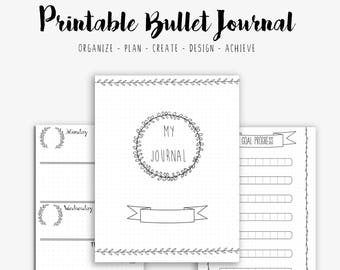Bullet Journal - Printable Pages - Planner - A5 - A4 - US Letter (8.5x11)