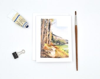 Utah Notecard - Blank Notecard - Utah Gift - Watercolor Notecard - Wanderlust Travel Card - Travel Gift Card - Utah Landscape - Nature Lover