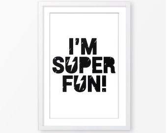 Black and white kids poster,superhero poster,little boys poster,scandinavian style,typography poster, kids room decor,nursery poster