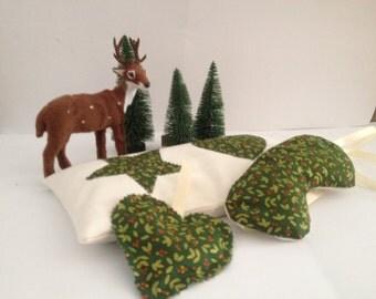 Set bag and mask thermal lime of seeds and herbs microwave hot/cold CHRISTMAS