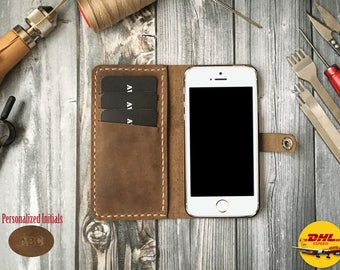 Leather Phone Case for iphone 5 wallet case, iphone 5 plus wallet case, leather iphone 5 case, leather iphone 5 plus case