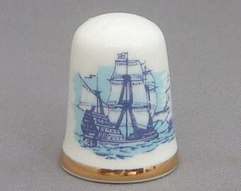 Caverswall Thimble - Spanish Armada
