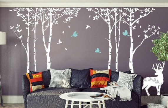 Autocollant de mur grand arbre arbre mural stickers par - Alberi decorativi da parete ...