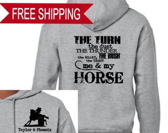 The Thunder The Rush Horse - Barrel Racing Hoodie