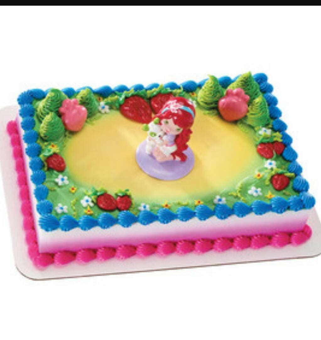 Strawberry Shortcake Cake Topper Australia