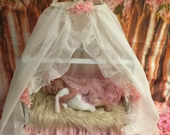 Newborn bed prop, canopy newborn prop, skirt newborn prop, newborn prop