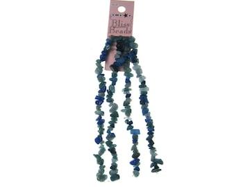 Bliss Beads Strung Beads Dyed Quartzite Aqua Chips